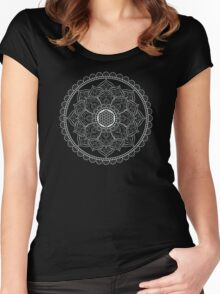 Sacred Geometry: Flower Of Life Mandala II Women's Fitted Scoop T-Shirt