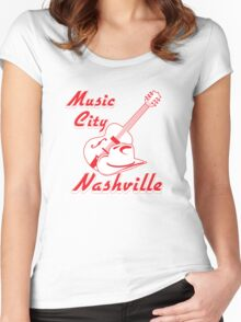 Nashville. Music city Women's Fitted Scoop T-Shirt