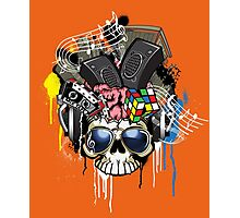 Skull - Music inside the brain  Photographic Print