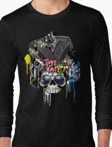 Skull - Music inside the brain  Long Sleeve T-Shirt