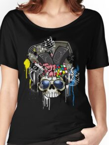 Skull - Music inside the brain  Women's Relaxed Fit T-Shirt
