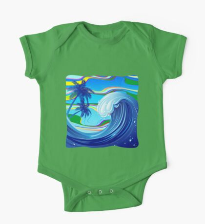 Sea Ocean big Wave Water  One Piece - Short Sleeve