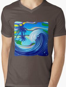 Sea Ocean big Wave Water  Mens V-Neck T-Shirt