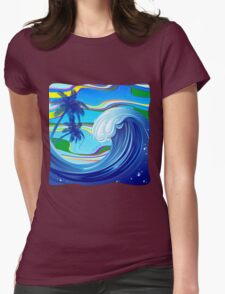 Sea Ocean big Wave Water  Womens Fitted T-Shirt