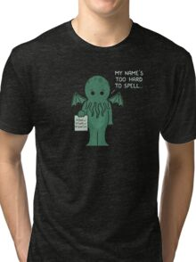 Monster Issues - Cthulhu Tri-blend T-Shirt