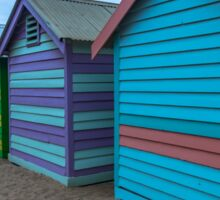 Beach boxes at Brighton Sticker