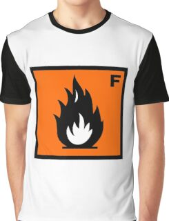 Flammable Symbol Graphic T-Shirt