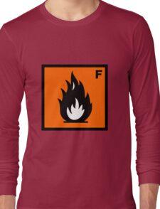 Flammable Symbol Long Sleeve T-Shirt
