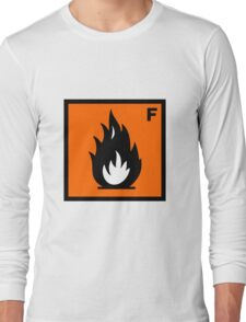 Flammable Symbol Long Sleeve T-Shirt
