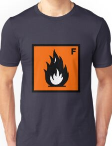Flammable Symbol Unisex T-Shirt