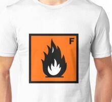 Flammable Symbol Unisex T-Shirt