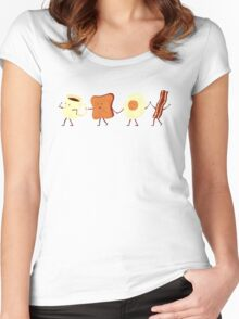 Let's All Go And Have Breakfast Women's Fitted Scoop T-Shirt