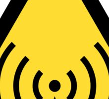 Non-Ionizing Radiation Symbol Sticker