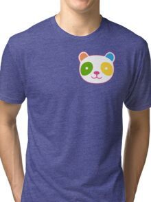 Cute Rainbow Panda Tri-blend T-Shirt