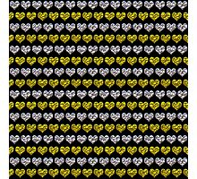 Silver and Gold Hearts Pattern Photographic Print