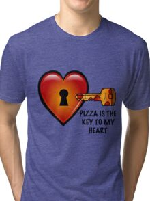 Pizza Is The Key To My Heart Tri-blend T-Shirt