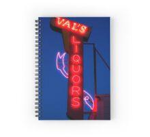 Liquor store neon sign Spiral Notebook
