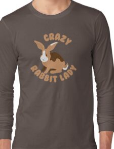 Crazy Rabbit Lady bunny (circle) Long Sleeve T-Shirt