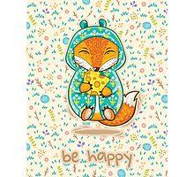 Happy fox Photographic Print