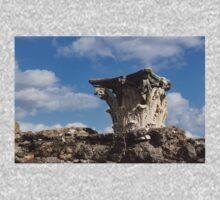 Ancient Pompeii Broken Treasures - Classical Corinthian Column Capital Right One Piece - Long Sleeve