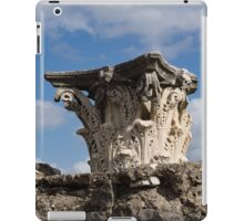 Ancient Pompeii Broken Treasures - Classical Corinthian Column Capital Right iPad Case/Skin