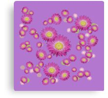 Daisy - Pink and Yellow Canvas Print