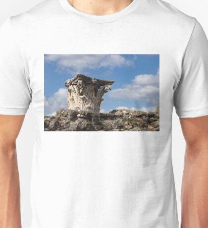 Ancient Pompeii Broken Treasures - Classical Corinthian Column Capital Left  Unisex T-Shirt