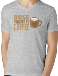 BOSS powered by Coffee Mens V-Neck T-Shirt