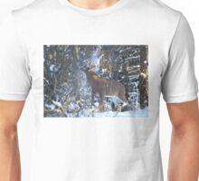 Snow Shower - White-tailed Buck Unisex T-Shirt