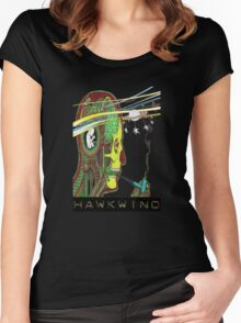 Hawkwind Merry Go Head Women's Fitted Scoop T-Shirt