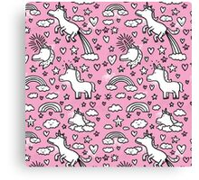 Cute CAnty Pinky Unicorn Canvas Print