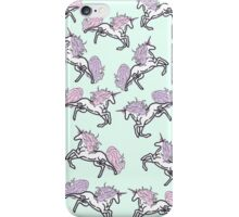 Rose Unicorn Jumping In the woods Patterns iPhone Case/Skin