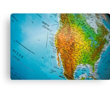 USA map Canvas Print