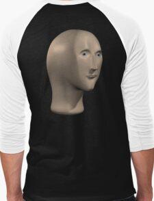 meme man on back Men's Baseball ¾ T-Shirt