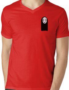 PIXEL FACE Mens V-Neck T-Shirt