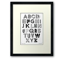 Monotype Alphabet Framed Print