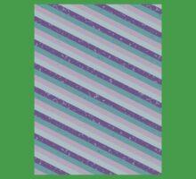 Pastel Diagonal Stripe Pattern Kids Tee