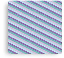 Pastel Diagonal Stripe Pattern Canvas Print