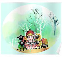 Bo Peep and her sheep momiji Poster