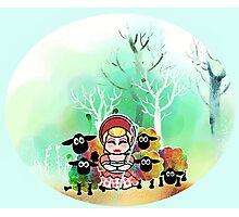 Bo Peep and her sheep momiji Photographic Print