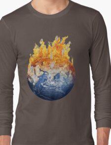 Earth global warming Long Sleeve T-Shirt