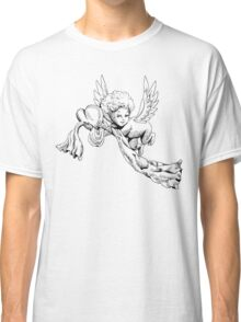 Black and white Cute Angel with heart Classic T-Shirt