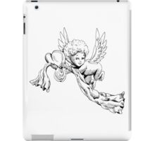 Black and white Cute Angel with heart iPad Case/Skin