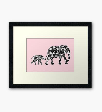 Patchwork Elephant Framed Print