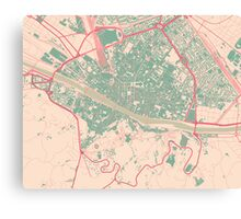 Firenze Map (Springtime) Canvas Print