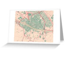 Firenze Map (Springtime) Greeting Card