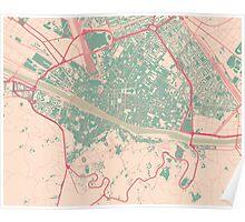 Firenze Map (Springtime) Poster