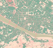 Firenze Map (Springtime) Sticker