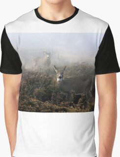 The rut is on! - White-tailed Buck and doe Graphic T-Shirt