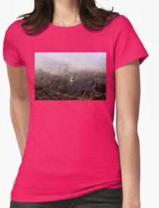 The rut is on! - White-tailed Buck and doe Womens Fitted T-Shirt